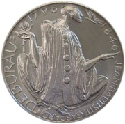 200 Korun (Jean-Baptiste Gaspard Deburau) – reverse