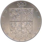 200 Korun (Zdeněk Fibich) – obverse