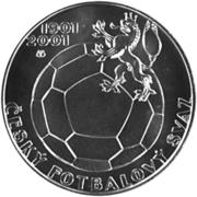 200 Korun (Czech Football Association) – reverse