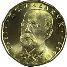 20 Korun (Tomáš Garrigue Masaryk) – reverse