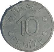 10 Hraci Peníze (Play Money) – reverse