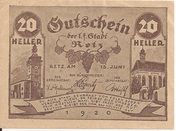 20 Heller (Retz) -  obverse