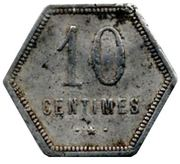 10 Centimes (French Overseas Department) – reverse
