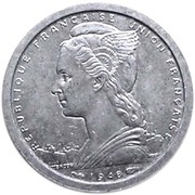1 Franc (Mule Issue) – obverse