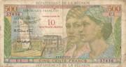 10 nouveaux francs sur 500 francs – obverse