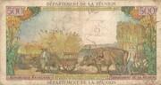 10 nouveaux francs sur 500 francs – reverse