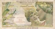 20 Nouveaux Francs sur 1000 francs – obverse