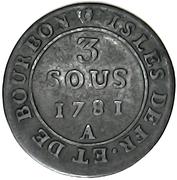 3 Sous - Louis XVI – reverse