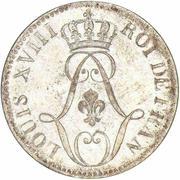 10 Centimes - Louis XVIII – obverse