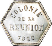 25 Centimes (French Overseas Department) – obverse