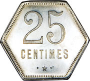25 Centimes (French Overseas Department) – reverse