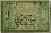 1 Pfennig (Triebes) – obverse