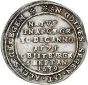 ¼ Thaler - Heinrich II. (Death) – reverse