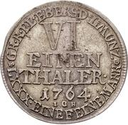 ⅙ Thaler - Heinrich XXIV. – reverse