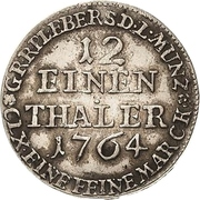1/12 Thaler - Heinrich XXIV. – reverse