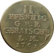 2 Pfennig - Heinrich XXX. – reverse