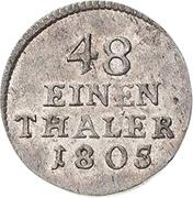 1/48 Thaler - Heinrich XXXV – reverse
