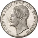 2 Thaler / 3½ Gulden - Heinrich LXXII (Silber Jubilee) – obverse