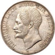 2 Thaler / 3½ Gulden - Heinrich LXXII – obverse