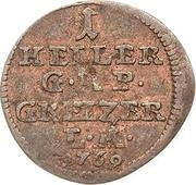 1 Heller - Heinrich XI. – reverse