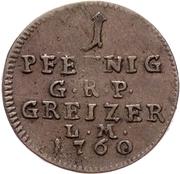 1 Pfennig - Heinrich XI. – reverse