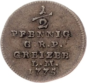 ½ Pfennig - Heinrich XI. – reverse