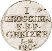 1 Groschen - Heinrich XIII – reverse