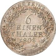 ⅙ Thaler - Heinrich XIII – reverse