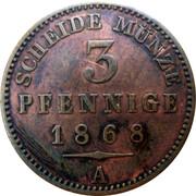 3 Pfennige - Heinrich XXII – reverse