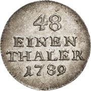 1/48 Thaler - Heinrich XI – reverse