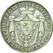 ⅓ Thaler - Heinrich XIII – obverse