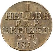 1 Heller - Heinrich XIX. – reverse