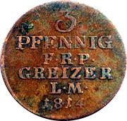 3 Pfennig - Heinrich XIII – reverse