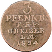 3 Pfennig - Heinrich XIX – reverse