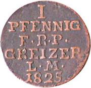 1 Pfennig - Heinrich XIX – reverse