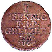 1 Pfennig - Heinrich XIII – reverse