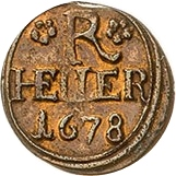 1 Heller - Heinrich I. – reverse