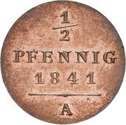 ½ Pfennig - Heinrich LXII – reverse