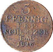 3 Pfennig - Heinrich XLII – reverse