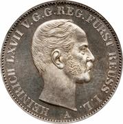 1 Vereinsthaler - Heinrich LXVII – obverse