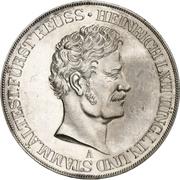 2 Thaler / 3½ Gulden - Heinrich LXII (Silver Jubilee) – obverse