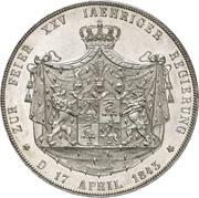 2 Thaler / 3½ Gulden - Heinrich LXII (Silver Jubilee) – reverse
