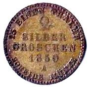 2 Silbergroschen - Heinrich LXII – reverse