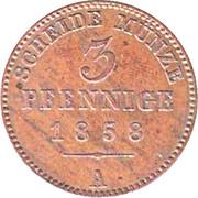 3 Pfennig - Heinrich LXVII – reverse