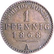 1 Pfennig - Heinrich XIV – reverse