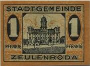 1 Pfennig (Zeulenroda) – reverse