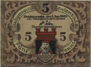 5 Pfennig (Zeulenroda) – obverse