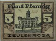 5 Pfennig (Zeulenroda) – reverse