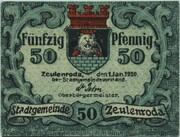 50 Pfennig (Zeulenroda) – obverse