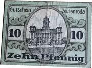 10 Pfennig (Zeulenroda) – reverse